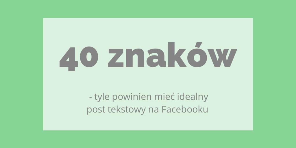 post tekstowy